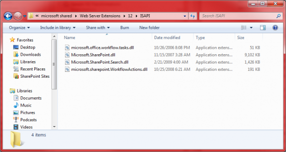 SharePoint 2007 DLL Directory