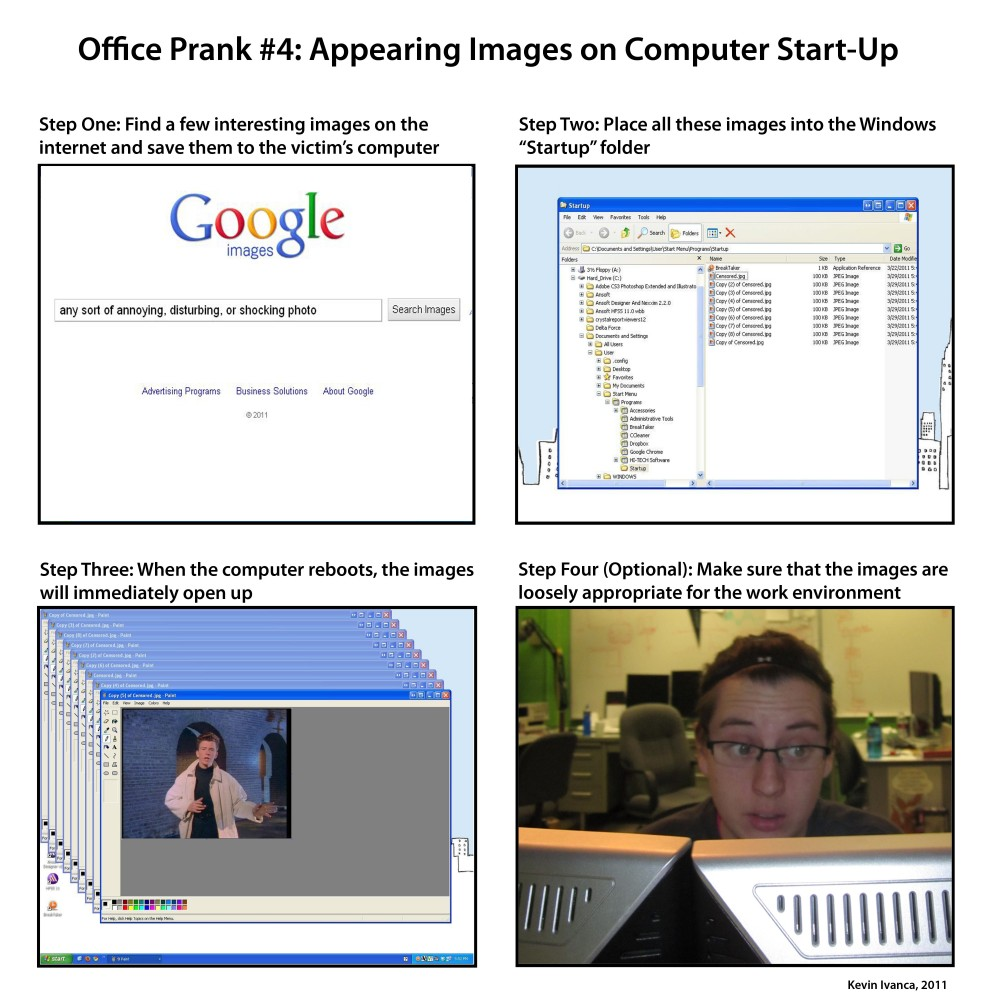 computer pranks essay You may have thought rickrolling had jumped the shark, but no you just can't keep a good prank down it is worth noting that gudiseva isn't the first student to pull the essay prank in 2010, using a never ending stream of astley lyrics in a computer essay, a student pulled a similar stunt you're going to have.