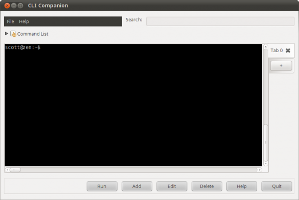 CLI Companion main window