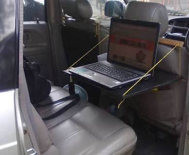 how to make a laptop holder for your car