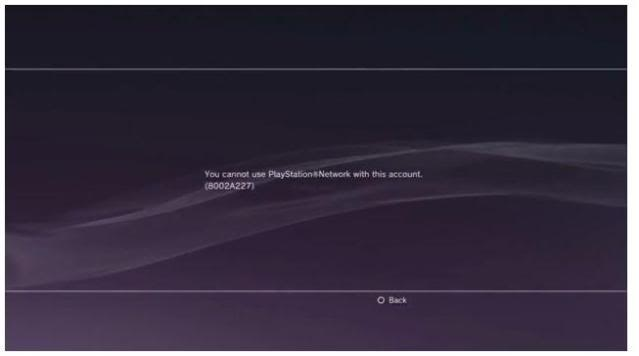 PSN Account Banned