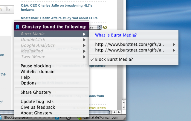 Ghostery browser add-on