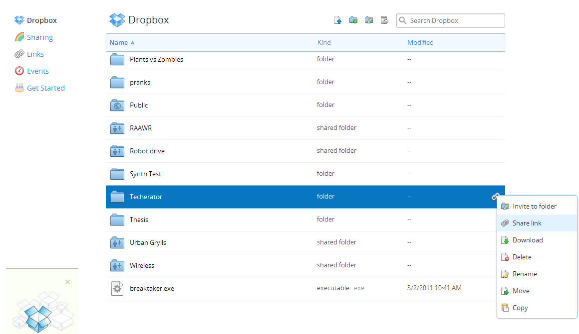 Gigaom | dropbox adds ability to create a shareable link to any.