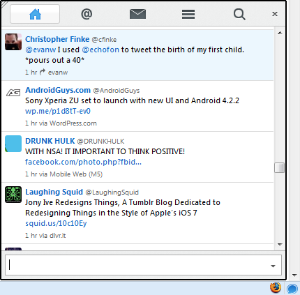 The last version of Echofon for Firefox ever released, version 2.5.2.