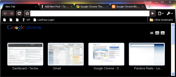 Glow Theme for Google Chrome Beta