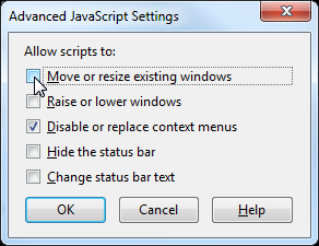 Firefox Tip: How to Prevent JavaScript Code from Resizing