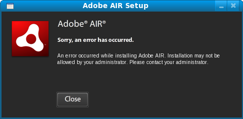 linux-air-error