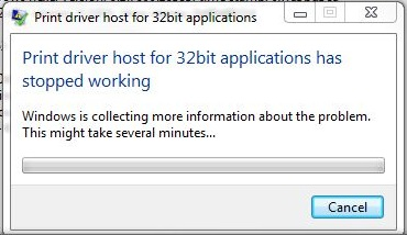 Fix Print Driver Host For 32bit Applications Has Stopped Working Error In Windows 7