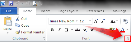 how to change the default font in word 2010 permanently