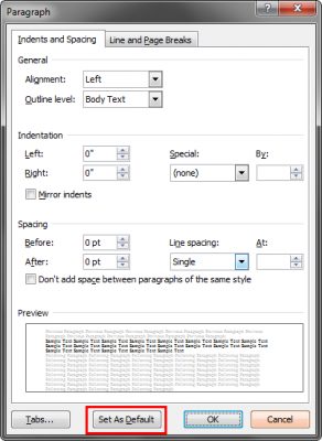 How To Change Default Font and Document Settings In Microsoft Word ...