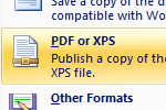 Quick Tip: How to Save Documents as PDFs in Microsoft Office Word 2007