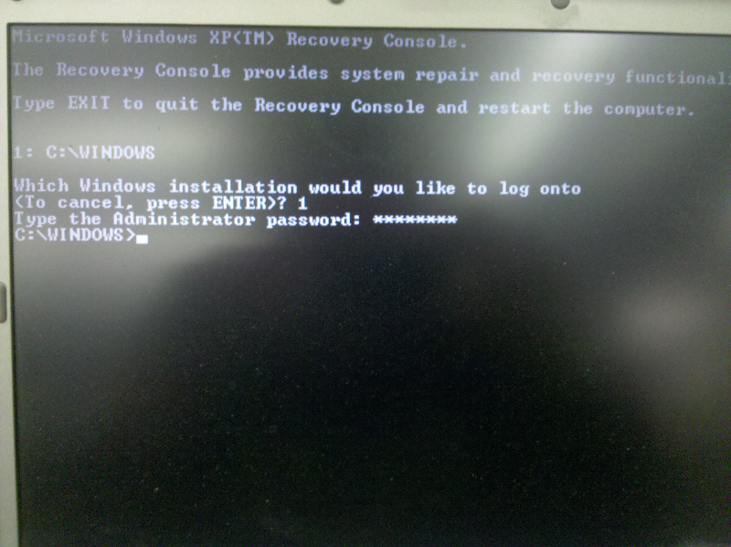 How to repair xp system files in recovery console
